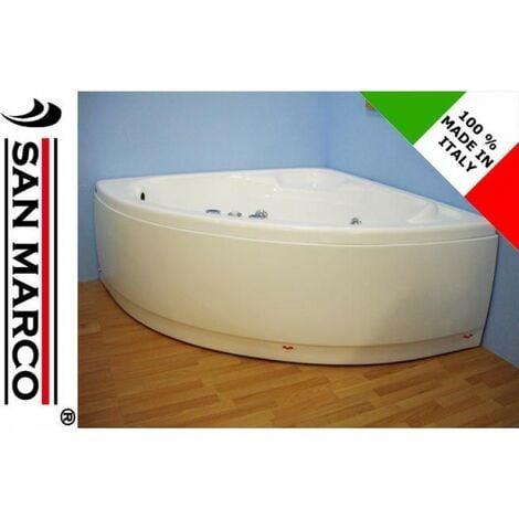 Vasca da bagno angolare con idromassaggio 120x120 cm