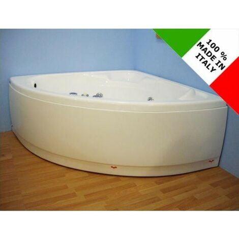 Vasca da bagno angolare con idromassaggio 130x30 cm