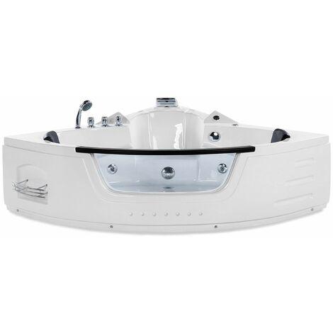 Vasca da bagno bianca con LED e idromassaggio 155 cm MARTINICA
