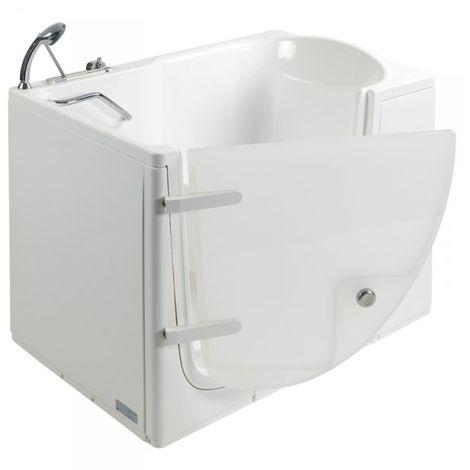 Vasca da bagno con porta per disabili e anziani 115x78x93cm LUCIANA