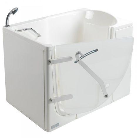 Vasca da bagno con porta per disabili e anziani 115x78x93cm LUDOVICA