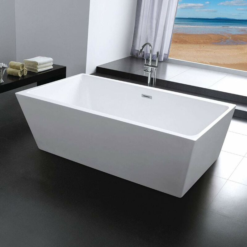 Vasca da Bagno Design Freestanding ad Isola Rettangolare ...