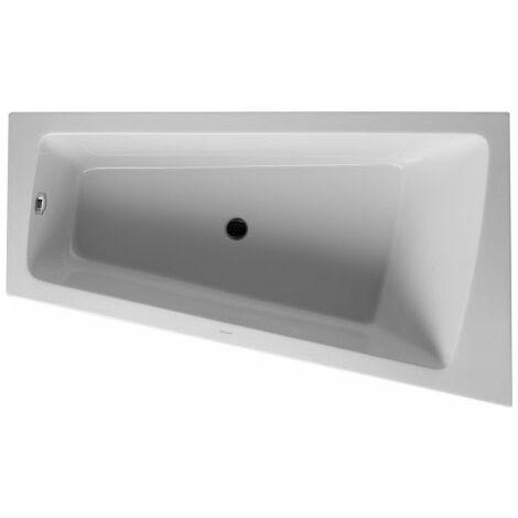 Vasca da bagno Duravit Paiova 170x100cm angolo destro, 700265, con rivestimento e cornice in acrilico stampato, bianco - 700265000000000