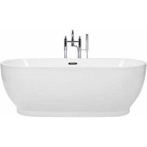 Vasca da bagno freestanding bianca LEVERA