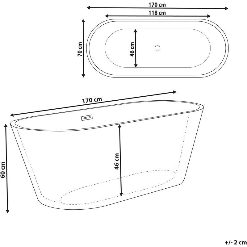 Vasca Da Bagno Nera : Vasca da bagno freestanding bianca nera cabritos