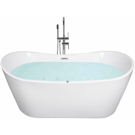 Vasca da bagno freestanding con idromassaggio e LED ANTIGUA