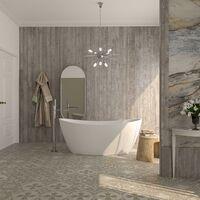 Vasca da bagno freestanding in acrilico installazione libera