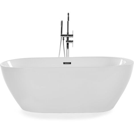 Vasca da bagno freestanding ovale in acrilico bianco NEVIS