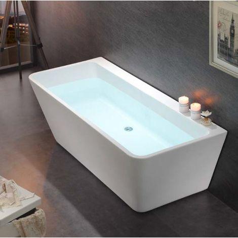Vasca da bagno freestanding VENEZIA - bianco - 170 x 80 cm