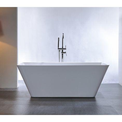 Vasca Da Bagno 170 X 80.Vasca Da Bagno Freestanding Venezia Bianco Con Rubinetteria 8028