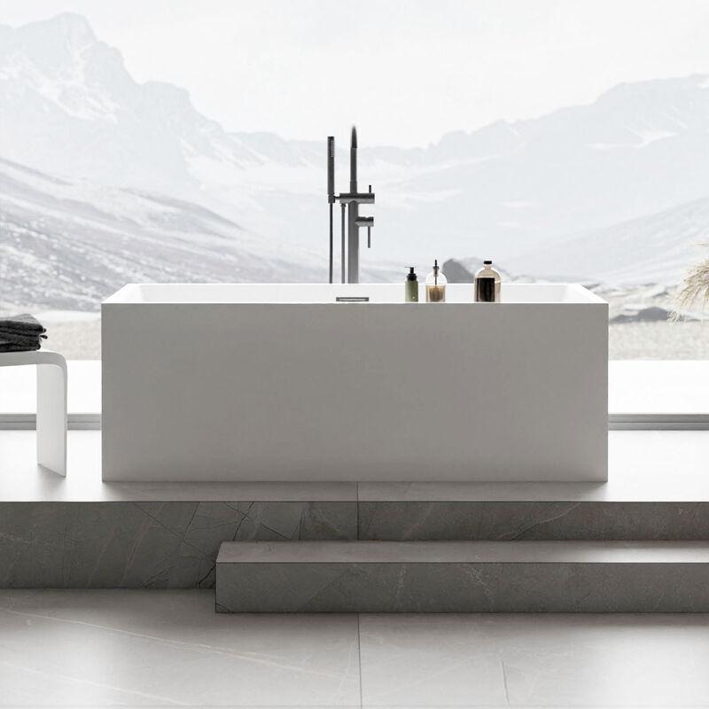 Vasca Da Bagno Freestanding.Vasca Da Bagno Freestanding Verona In Acrilico Sanitario Bianco 170 X 80 X 60 Cm Rubinetteria Opzionale