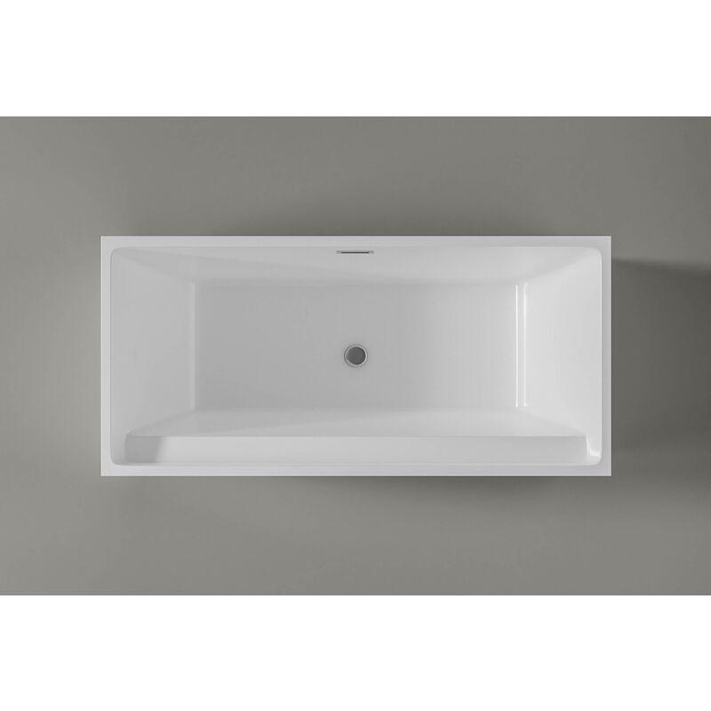 Vasca Da Bagno 60 Cm.Vasca Da Bagno Freestanding Verona In Acrilico Sanitario Bianco 170 X 80 X 60 Cm Rubinetteria Opzionale