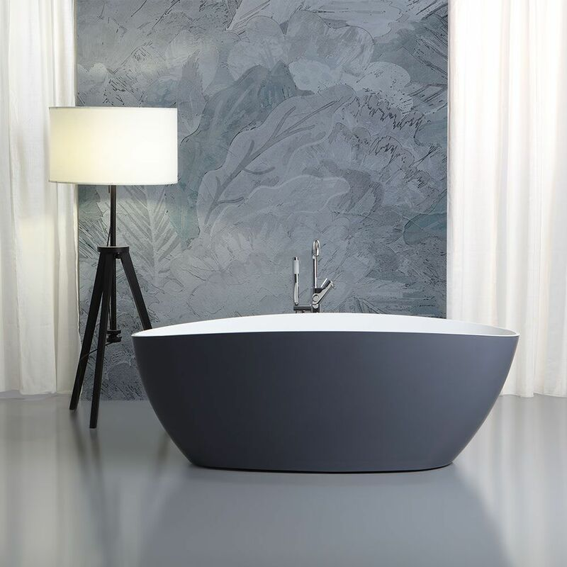 Vasche Da Bagno Design Moderno.Vasca Da Bagno Freestandingo Design Moderno Grigio Rachele