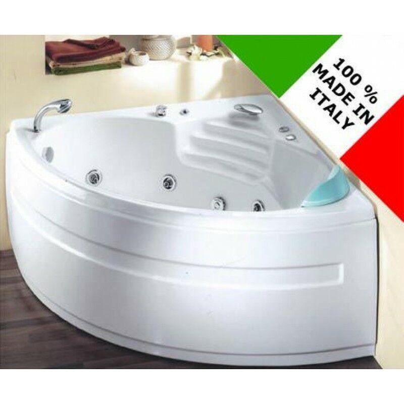 Vasca da bagno idromassaggio ad angolo 135x135 cm sardone for Vasche x laghetti