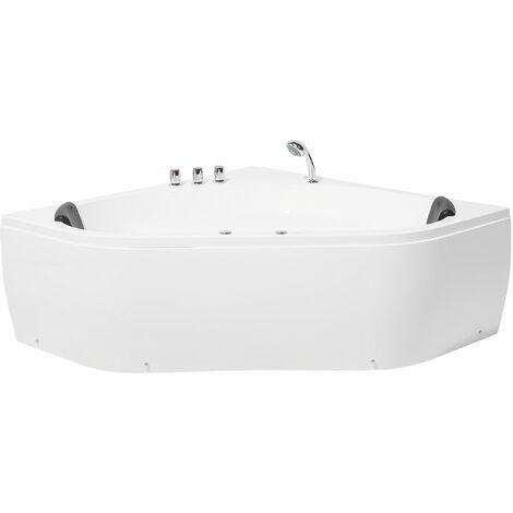 Vasca da bagno idromassaggio angolare bianca MEVES