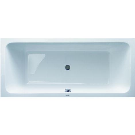 """main image of """"Vasca da bagno in acrilico bianco DURAVIT D-Code da incasso, 1800 x 800 mm, con due schienali inclinati - Art. 700101 00 00 0 0000"""""""