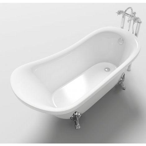 Vasca Da Bagno In Stile Inglese.Vasca Da Bagno In Stile Inglese Freestanding 160x72x75cm