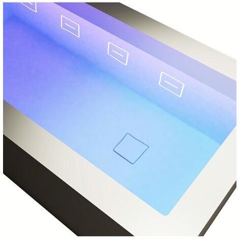 Vasca freestanding 180x80 cm con sistema brevettato di idromassaggio cromoteraupetico a filo - icon