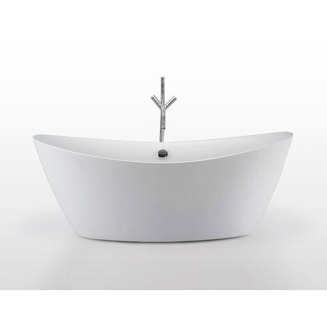 VASCA FREESTANDING INSTALLAZIONE LIBERA 180x80 cm MODERNA DESIGN Beverly + Rubinetto
