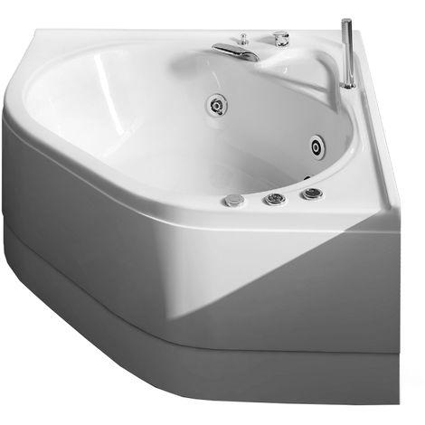 Vasca idromassaggio angolare in acrilico con avviamento pneumatico Modello Camelia