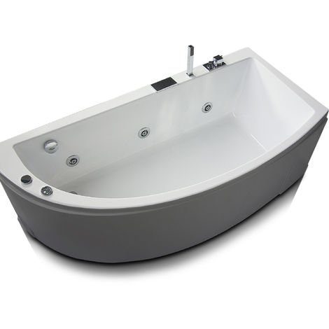 Vasca idromassaggio asimmetrica in acrilico con avviamento pneumatico Modello Neo