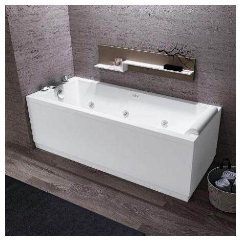 Vasca idromassaggio Calos con telaio e pannello 160x70 bianca