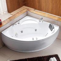vasca idromassaggio cm 135x135 con poggiatesta rubinetteria inclusa