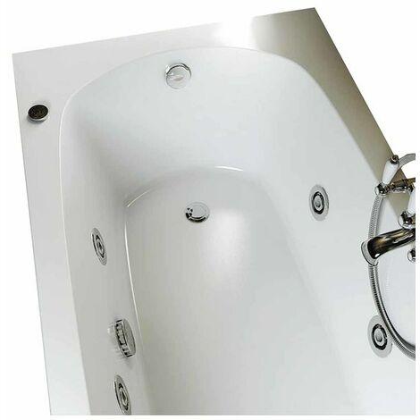 Vasca idromassaggio con avviamento digitale in acrilico 150x70 cm - capri vdg