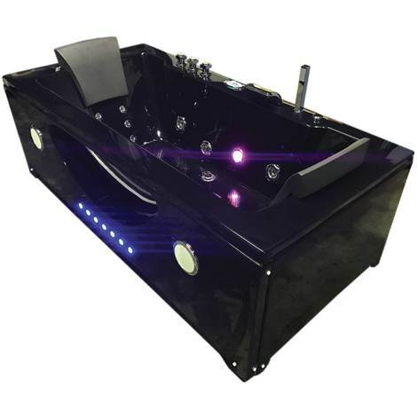Vasca Idromassaggio Modello HYPNOTIC NERA 180 x 90 cm