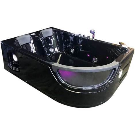 Vasca Idromassaggio Modello PEGASO NERA 180 x 120 cm