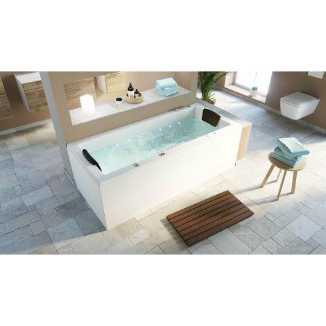 Vasca idromassaggio Set Deluxe OMEGA ULTRA 180 con mini LED 180x80x62 cm