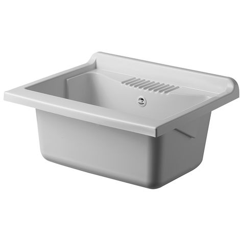 Vasca per Lavatoio Lavapanni 60x50 in Resina Ricambio Bianco