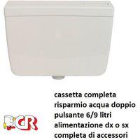 Vasca vaschetta cassetta di scarico wc sciaqcuone 6/9 lt vaso con economizzatore