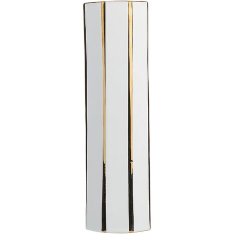 Vase blanc en céramique ESTELLA