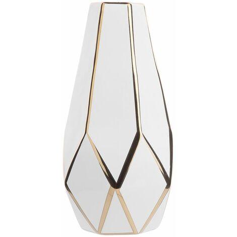 Vase blanc en céramique OTEO