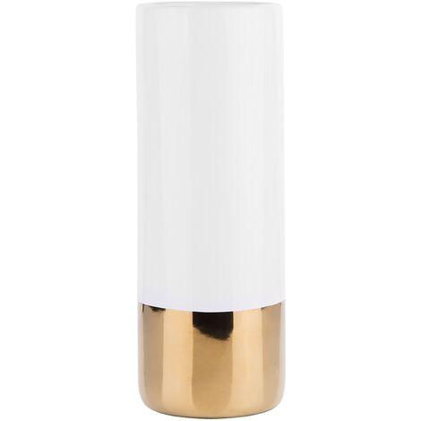 Vase cylindrique blanc GELIDA