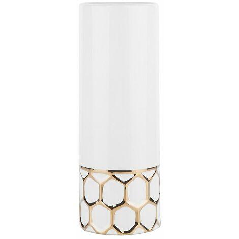 Vase cylindrique blanc RUBI
