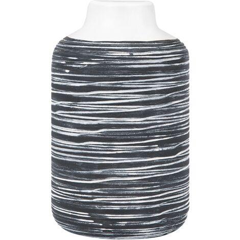 Vase décoratif blanc/gris PELLA