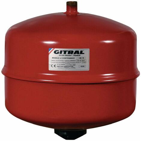 Vase d'expansion GITRAL a membrane 12 litres tarage 1,5 bars ref. MB12