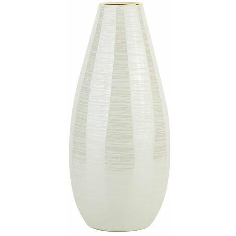 Vase en céramique blanc crème ARBON