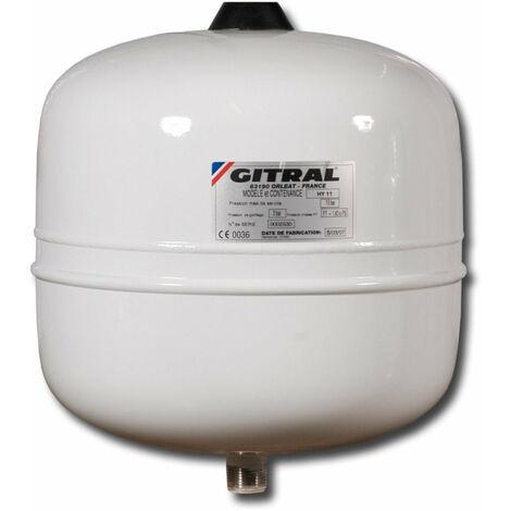 Vase GITRAL d'expansion a membrane fixe HYDROCHAUD manchon 3 / 4'' 12 litres 10 bars -10/+99°C '' Ref HY12