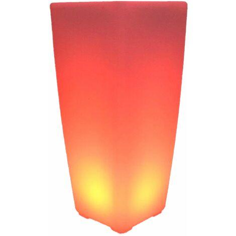 """main image of """"Vase lumineux décoratif POTY blanc plastique H70cm"""""""