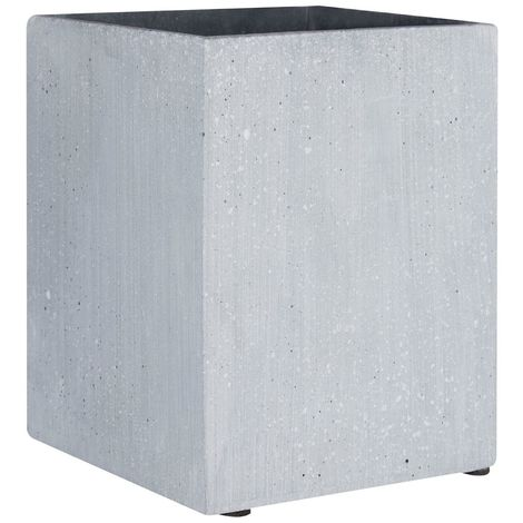 Vase,Grey polyresin,small square