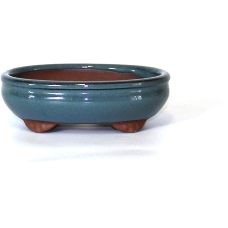 15 Vaso bonsai smaltato ovale cm