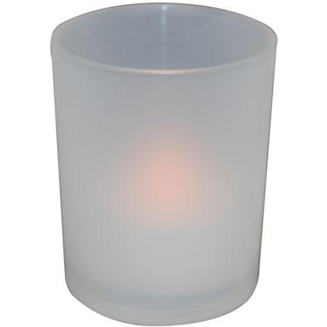 Vaso con vela Led decorativa (F-BRIGHT 2402999)