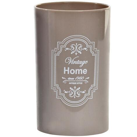 Vaso de Baño para Cepillo de Dientes. Diseño Home, con estilo Vintage/France (11,5cm X 7cm X 7cm) - Hogar y Más Beige