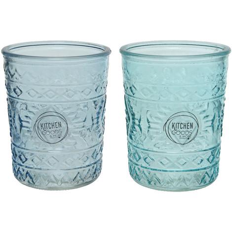 Vaso De Cristal Con Relieve Dia8.3X10.3Cm 350Ml - NEOFERR