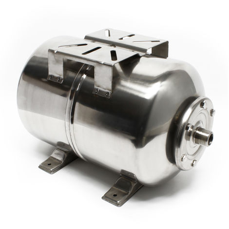 Vaso de expansión acero inoxidable 100L, calderín de membrana para grupo de presión doméstico