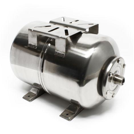 Vaso de expansión acero inoxidable 24L, depósito de presión, calderín para grupo presión doméstico