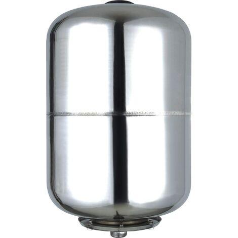 Vaso de expansión acero inoxidable 25L, depósito de presión 8bar, calderín grupo de presión doméstico.